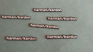6-x-Alluminio-Altoparlante-Harman-Kardon-logo-emblem-badge-sticker-BMW-MINI-BENZ-AUDI