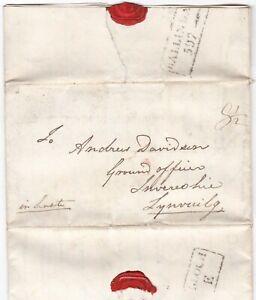 1828-BALLINDALLOCH-MILEAGE-PMK-LETTER-G-MACPHERSON-GRANT-AGRICULTURAL-CONTENT