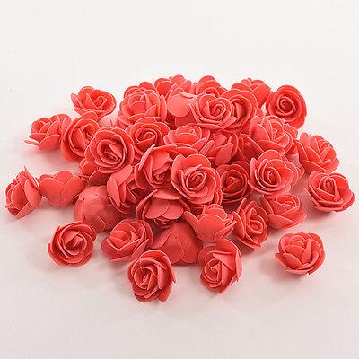 50X Colourfast Foam Rose Artificial Flower Wedding Bride Bouquet Party Decor New