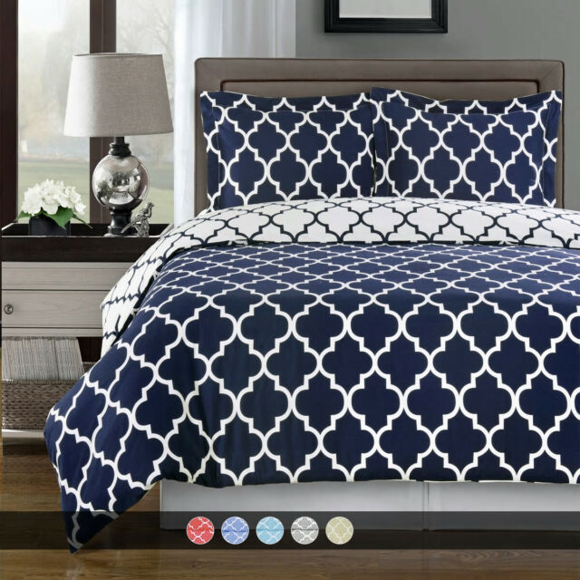 Great Bay Home Extra Soft Printed Flannel Duvet Cover With Button