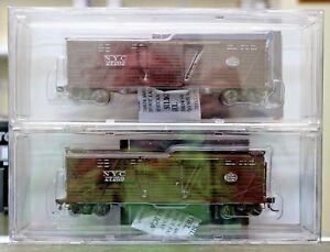 HO-Scale-BROADWAY-LIMITED-2688-NEW-YORK-CENTRAL-40-039-Dispatch-K7-Stock-Car-4-Pack