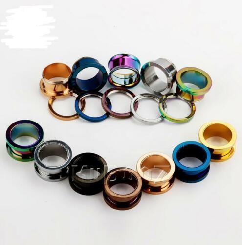 Surgical Steel Ear Plugs Gauges Earrings Flesh Tunnel Expander Piercing Jewelry