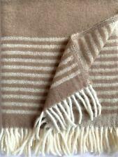 "Doubleface Kuschelecke Plaid 100/% Merinowolle 130 x 180 cm /""Stripe/"" Teddybär"