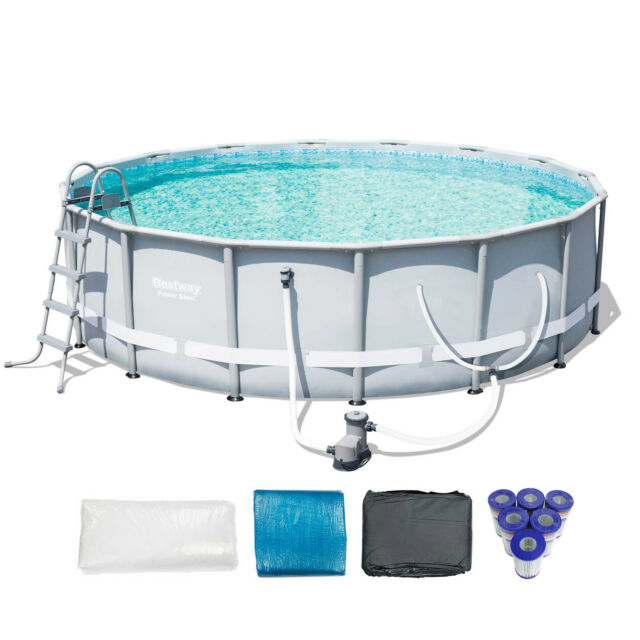 16 X 48 Coleman Power Steel Pool Bestway Above Ground Frame Set ...