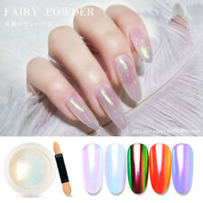 Mirror Glitter Nail Art Chrome Pigment Pearl Shell Mermaid Powder Gel Polish