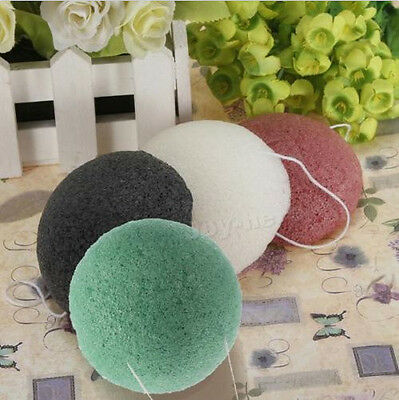 Konjac Konnyaku Fiber WA Face Makeup Wash Pad Cleaning Sponge OU Puff Exfoliator