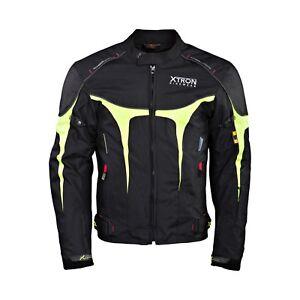 Xtron-Textile-Hommes-Veste-Moto-Etanche-Moto-Ce-Renforce-Costume-Neuf