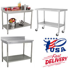 Stainless Steel Commercial Catering Table Work Bench Kitchen Food Prep Worktop