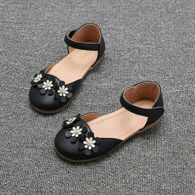 Fashion Flats Shoes for Children Kids Girls Princess Sandals Dance Party Shoes