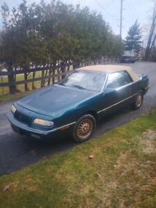 1993 Chrysler Lebaron GREEN/TAN leather Convertible