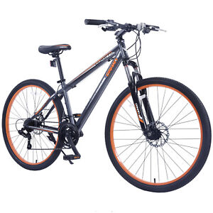 27-5-034-Men-039-s-Mountain-Bike-Shimano-Hybrid-21-Speed-Bicycle-Grey-Orange