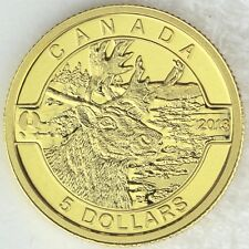 "Canada 2013 $5 Caribou, 1/10 oz. 99.99% Pure Gold Proof Coin - ""O Canada"" Series"