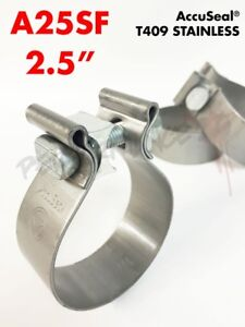 """2.5/"""" 2 1//2/"""" USA Torca AccuSeal 409 Stainless Steel Exhaust Band Clamp A25SF"""