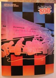 INDY-500-COLLECTORS-POSTER-1990-LIMITED-74TH-ANNIVERSARY-PIT-STOP