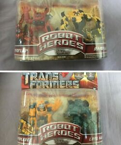 Transformers-Robot-Heroes-2x-Doppelpack-Bumblee-Rampage-Hasbro-2008-Neu-Moc