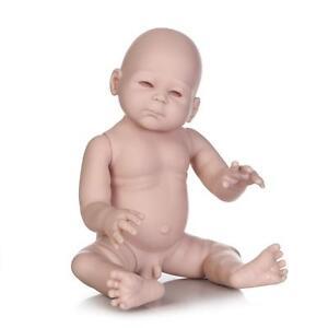 20'' Reborn Baby Kit Full Limbs Vinyl Boy DIY Unpainted For Making Newborn Doll