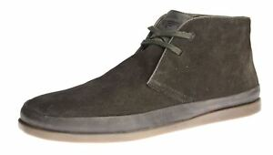 Mens Tape Suede Lace Up Red Brown Chelsea Jagger Stivaletti Desert zqwdZdF