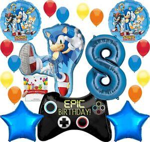 Sonic-Party-Supplies-Video-Gamers-8th-Anniversaire-Ballon-Decoration-Bundle