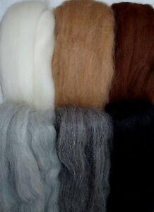 100g-Finest-Alpaca-Wool-Tops-6-shades-mix-reborn-dolls-hair-felting-spinning