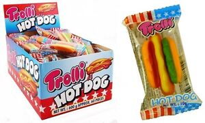 bulk lot 120 x trolli hot dog 2 boxes 10g gummy candy buffet lollies party favor ebay. Black Bedroom Furniture Sets. Home Design Ideas