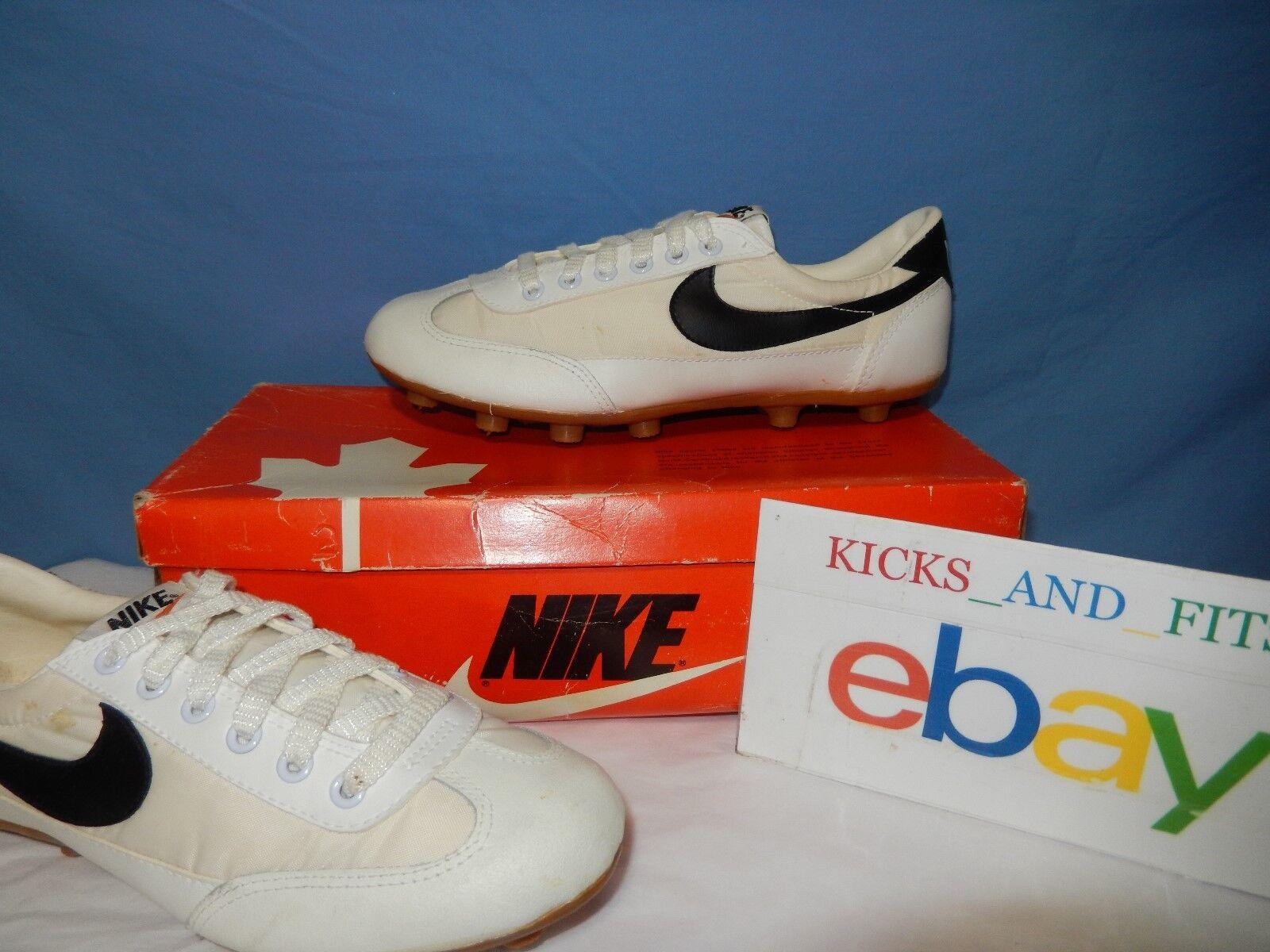 Vtg 1979 Nike Turf Star Soccer chaussures New in Maple Leaf Box Korea Original OG