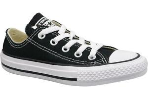 d0a8f2e964ad Converse Chuck Taylor All Star Junior Black Textile Trainers 2 UK ...
