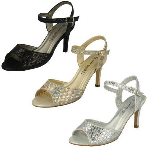 Anne Toe Michelle Ladies Glitter Peep Toe Anne Heels 606c8e