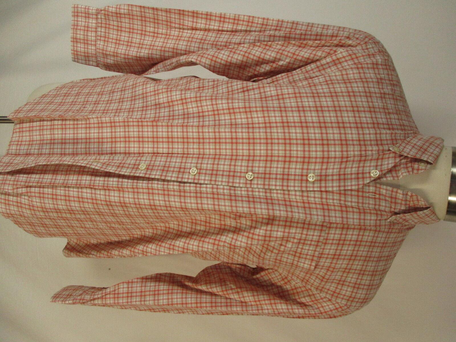 Filson Mens Red Plaid Long Sleeve Cotton Shirt M