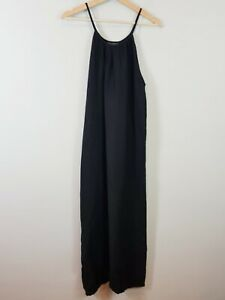 [ FIEL ] Womens Black 100% Linen Maxi Dress | Size AU 14 or US 10