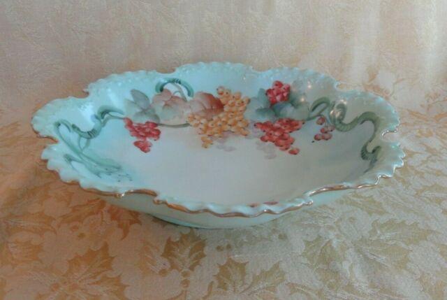 Antique Rosenthal Monbijou Porcelain Bowl Scalloped Gold ...