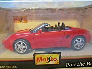 Maisto-1996-rojo-Porsche-Boxster-1-24-Escala-Edicion-Especial