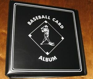 """Lot of 4 BCW Black Baseball Card Collection 3/"""" D-Ring Albums Binders Books"""