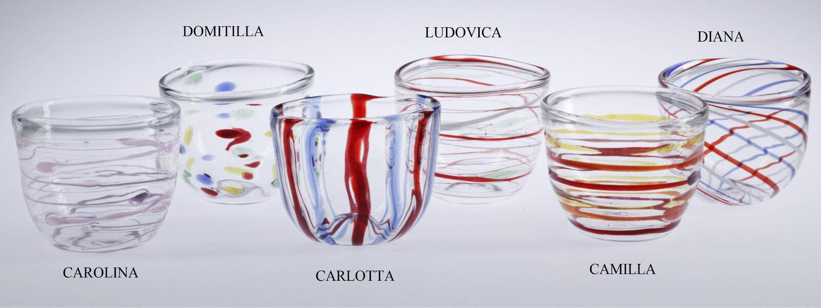 Massimo Lunardon Lunardon Lunardon Teekanne  DOMITILLA  mit 6 Tassen. Handgeblasenes Kunstglas e6f111