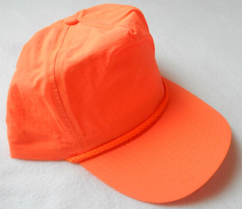 NEW NEON ORANGE 1980/'s SNAPBACK HAT 80s nylon cap Fluorescent Fresh Prince nylon