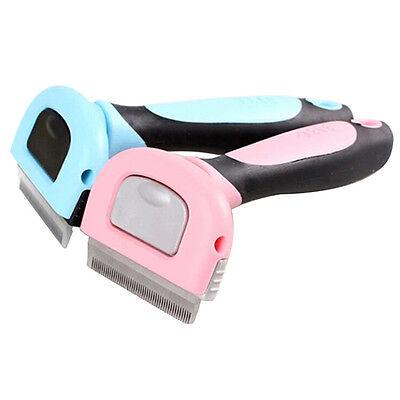 Pet Cat Dog Hair Deshedding Comb Grooming Brush Rakes Tool ABS Handle Welcome