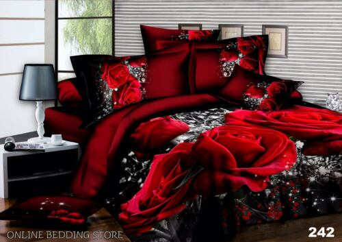 242 3D Images Bedding Set Duvet Set 1 Quilt Cover 1 Fitted Sheet 2 Pillow case