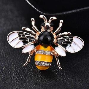 a1c63f765f1 Details about Bee Brooches Women Insect Enamel Pin Crystal Scarf Collar Pins  Men Vintage