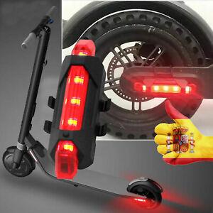 Luz de advertencia para patinete eléctrico luz trasera Flash Xiaomi KickScooter