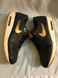 on sale 35c6d 4527b Image is loading Nike-Air-Max-1-Premium-SP-Black-Metalic-