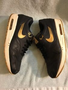 on sale 70afe dd5cc Image is loading Nike-Air-Max-1-Premium-SP-Black-Metalic-