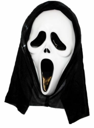 Budget Scream Halloween Ghost Face Mask Horror Killer Fancy Dress UK