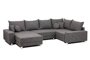vicco sofa wohnlandschaft u form augsburg garnitur ecksofa couch polsterecke ebay. Black Bedroom Furniture Sets. Home Design Ideas