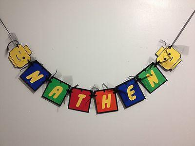 Custom Lego Inspired Name Banner, Lego theme – Party Deco, Birthday