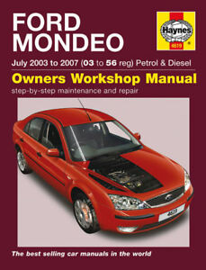 haynes manual 4619 ford mondeo 2 0tdci 2 2tdci tdci diesel 2003 2007 rh ebay co uk 2005 Ford Mondeo Old Ford Mondeo