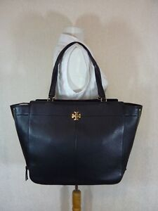 5e4e27267bb NWT Tory Burch Black Pebbled Leather Ivy Side Zip Tote -  525 ...