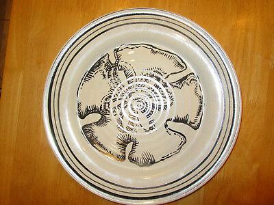 Pottery Barn Sand Dollar Platter Ceramic Serving Plate Ebay