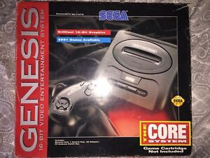 Vintage Sega Genesis The Core System 1992 CD Compatible w Original Box Complete With Games