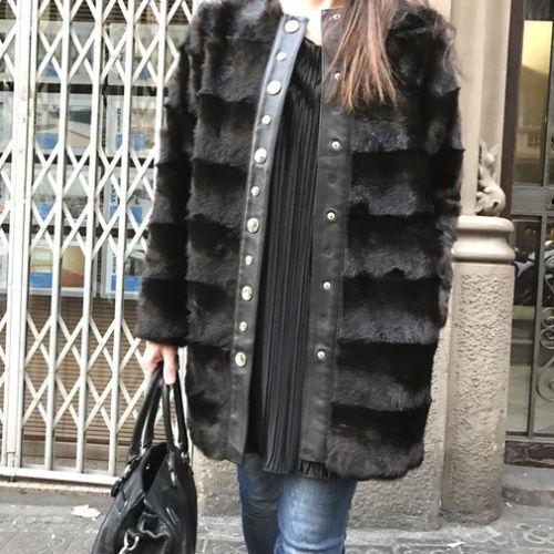 Genuine ZARA Mujer Abrigo de piel sintética de Marrón Cuero  Real Piel De Cordero Tamaño Medio M Nuevo  disfrutando de sus compras