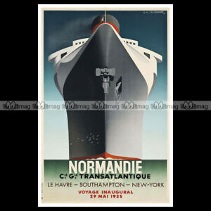 phpb-000337-Photo-SS-NORMANDIE-CGT-PAQUEBOT-OCEAN-LINER-1935-Poster-Reprint