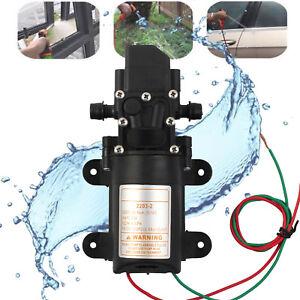 12V Druckwasserpum<wbr/>pe Hochdruck Membranpumpe LKW Marine Boat 100PSI 4L/min 60W DE
